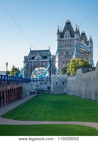 Tower Bridge Rises Above Tower Of London