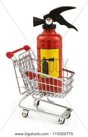 Extinguisher In The Shopping Cart