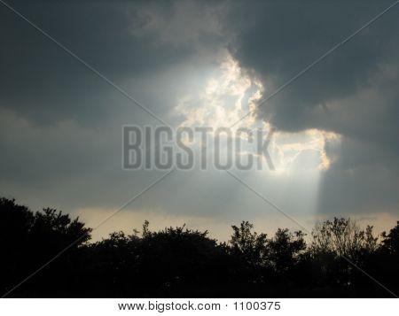 Heavens Sunlight Shines Down