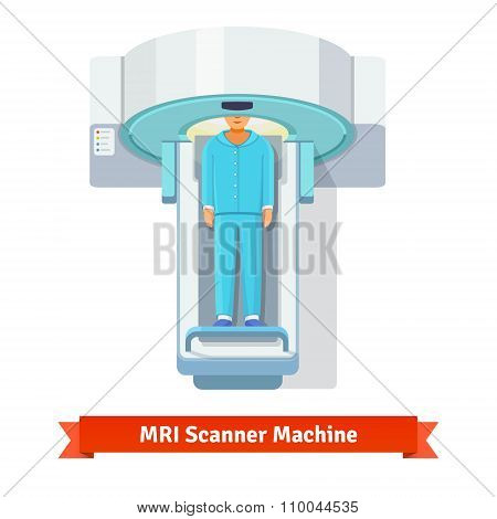 MRI, magnetic resonance imaging scanning patient