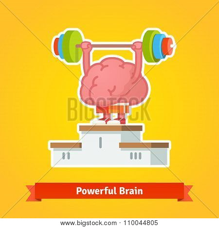 Strong brain takes first place on winning pedestal