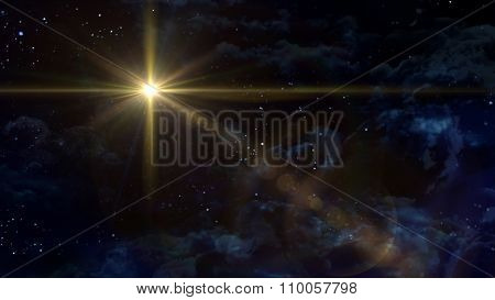 Starry Night Star Cross Planet