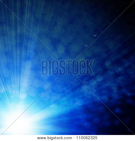 Glowing Background With Rays Of Light