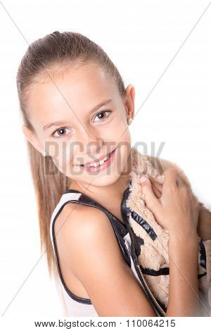 Happy Young Girl Smiling