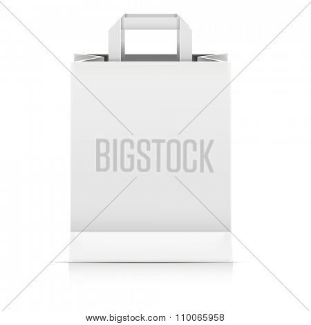 detailed illustration of a blank Paperbag packaging template, eps10 vector