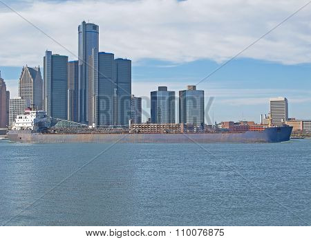 Freighter Passing The Rencen