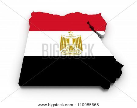 Egypt Flag Map
