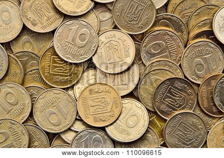 Many Of Shiny Coins Of Yellow Metal