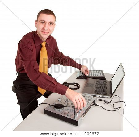 Disc Jockey Isolated