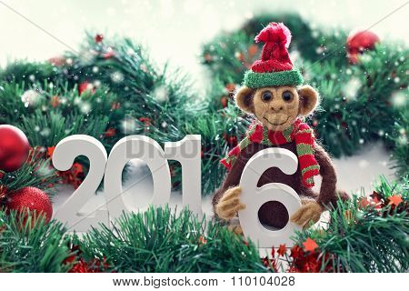 New Year 2016 the year of the monkey