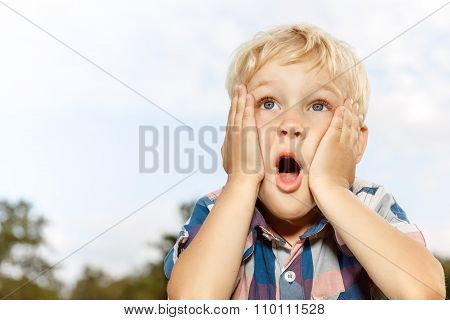 Child expressing surprise