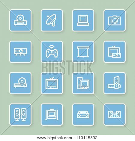 Electronic Appliances Web Icons poster
