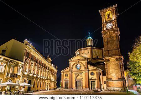 Basilica Di San Magno And Palazzo Municipale In Legnano - Italy