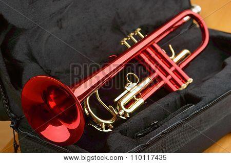 Red Brass Trumpet