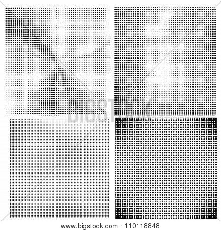 Set of Halftone Dots.