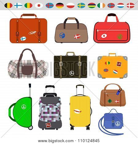 Travel bags vector illustration