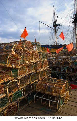 Lobster Pots At Whitby