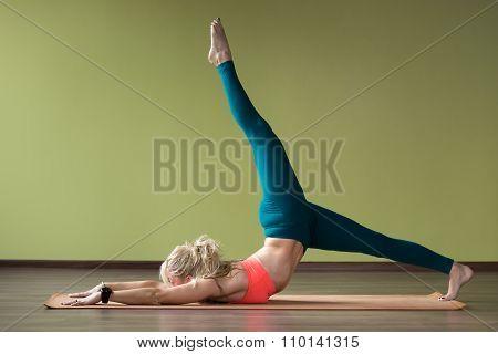Eka Pada Ashtanga Namaskara Yoga Pose