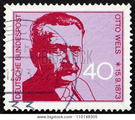 Postage Stamp Germany 1973 Otto Wels, Politician