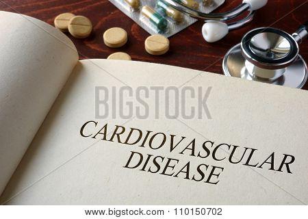 Book with diagnosis cardiovascular disease.