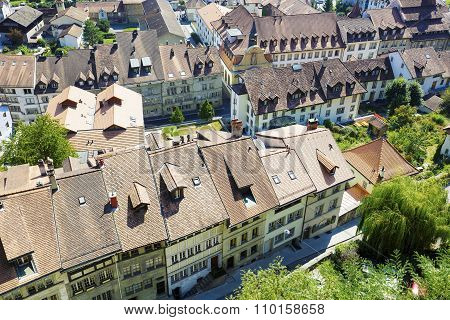 Roofs Of Fribourg In Switzerland