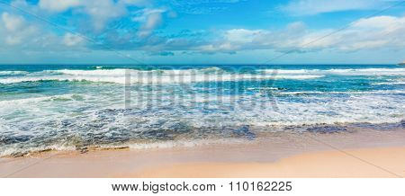 View of the Indian ocean. Panorama