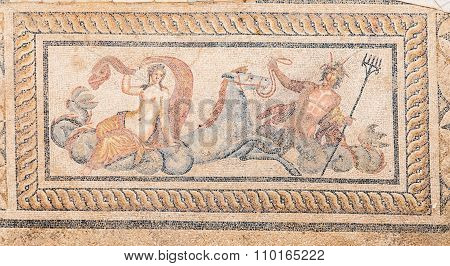 Nereid And Triton Mosaic In Terrace Houses, Ephesus Ancient City