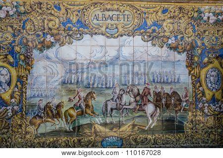 Plaza De Espana, Sevilla, Spain - Famous Old Decorative Ceramics Alcove.albacete Theme.