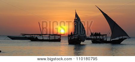 Fisherman Boat at sunset