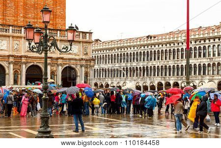 Venice on a rainy day.