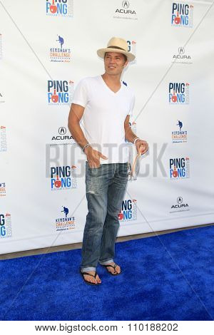 LOS ANGELES - JUL 30:  Timothy Olyphant at the Clayton Kershaw's 3rd Annual Ping Pong 4 Purpose at the Dodger Stadium on July 30, 2015in Los Angeles, CA