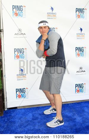 LOS ANGELES - JUL 30:  Kike Hernandez at the Clayton Kershaw's 3rd Annual Ping Pong 4 Purpose at the Dodger Stadium on July 30, 2015in Los Angeles, CA