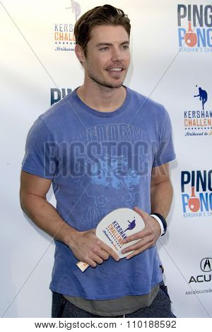 LOS ANGELES - JUL 30:  Josh Henderson at the Clayton Kershaw's 3rd Annual Ping Pong 4 Purpose at the Dodger Stadium on July 30, 2015in Los Angeles, CA