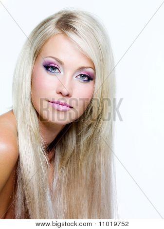Beautiful Face Of Blond Woman