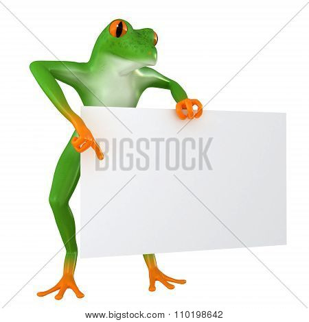 Tropical business frog