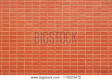 Red Wall Blick On Background Texture.
