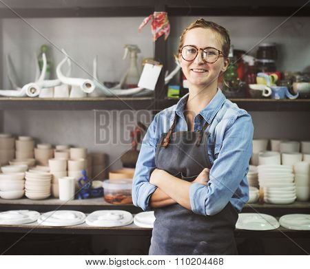 Woman Occupation Craft Professional Interest Cocnept