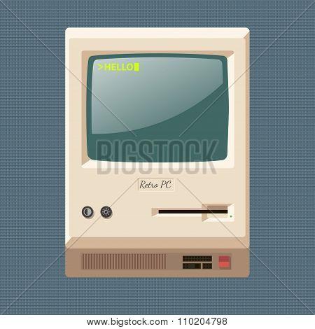 Vector vintage personal computer