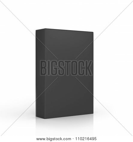 The Black Rectangular Box On A White Background