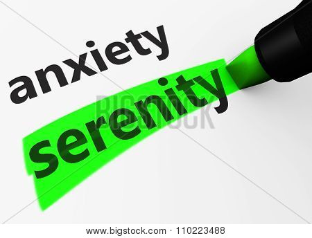 Serenity Vs Anxiety Sign