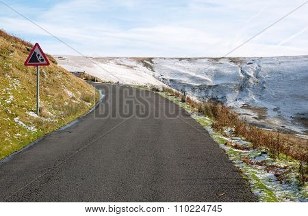 Road from the Elan Valley to Rhayader, Powys Wales UK.