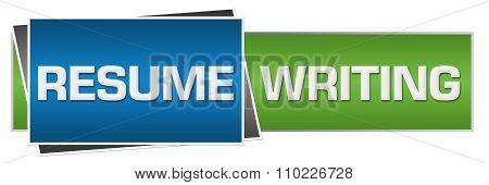 Resume Writing Green Blue Horizontal