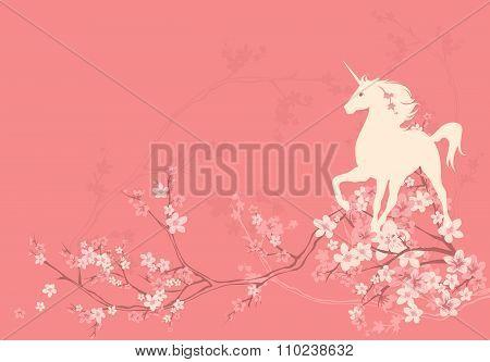 Spring Unicorn Background