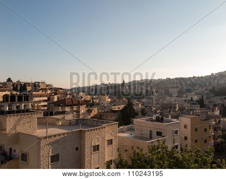 City of Nazareth panoramic view Israel
