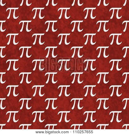 Red And White Pi Symbol Design Tile Pattern Repeat Background
