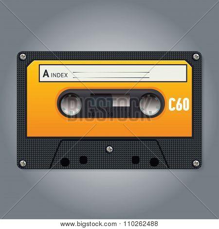Vector vintage audiotape