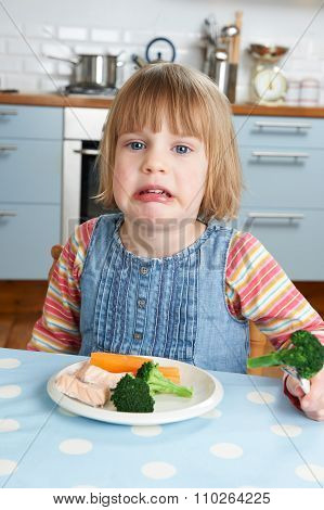 Fussy Child Not Eating Healthy Meal