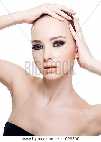 Beautiful Clean Fresh Woman Face