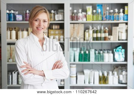 Beautician Advising On Beauty Products