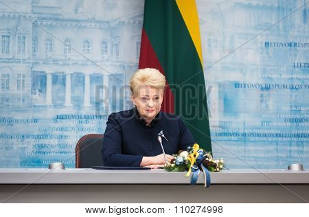 President Of Lithuania Dalia Grybauskaite